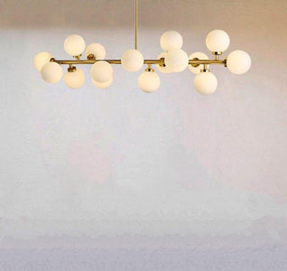Tiny Glass Globes - Modern Chandelier
