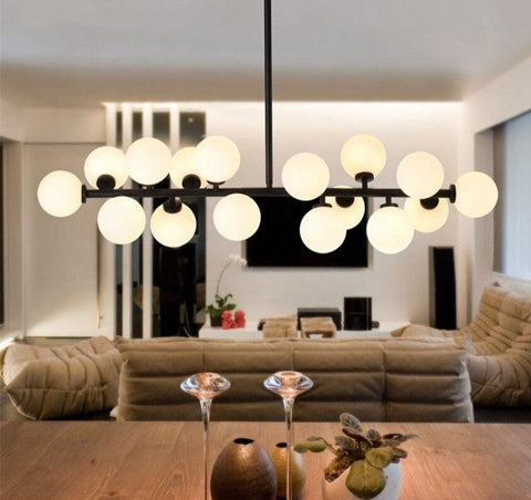 Image of Tiny Glass Globes - Modern Chandelier