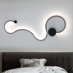 Twisted LED Lighting Fixture - Curved Wall Light
