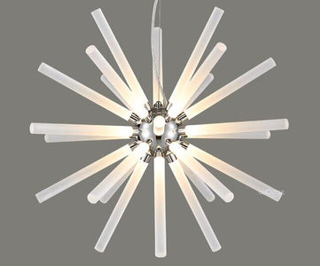 Novel Creative Design Iron Chandelier - Glowing Snowflake Droplight - Large