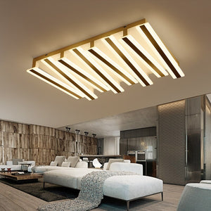 Post-modern Piano Lighting Fixture - Rectangular & Minimalistic Ceiling Light