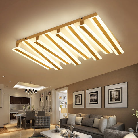 Image of Post-modern Piano Lighting Fixture - Rectangular & Minimalistic Ceiling Light