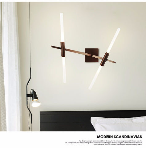 Image of Glass Sticks Modern LED Wall Light