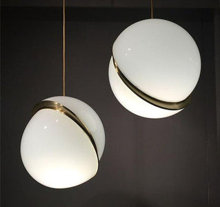 JW Modern Art Ball Pendant Lights Globe Acrylic Lampshade Pendant Lamp for Living Room Bedroom Kitchen Hanging Fixtures Decor