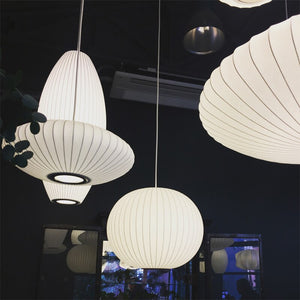 Japanese Style Silk Shade Pendant Lights