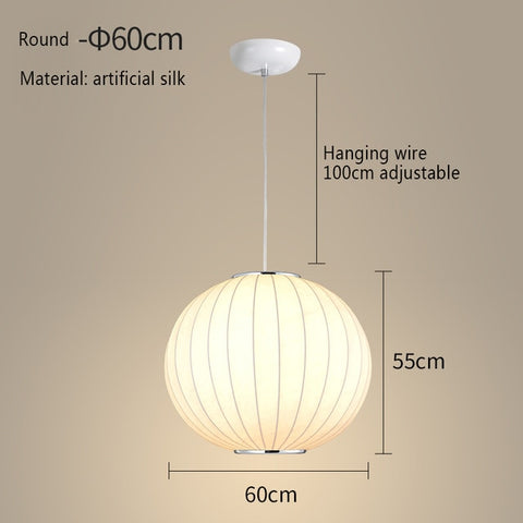 Image of Japanese Style Silk Shade Pendant Lights