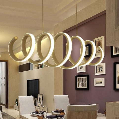 Image of Twisting Bedroom Dining Study Chandelier Lamp