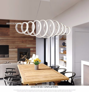 Twisting Bedroom Dining Study Chandelier Lamp