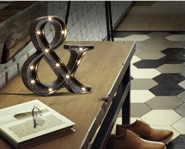 AND Sign Industrial Style LED Table Lamp