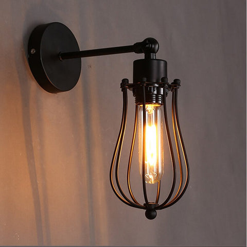 Image of Industrial Droplet Cage Wall Lamp