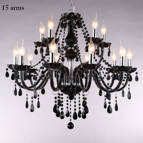 Image of Modern Retro Drop Crystal Chandelier