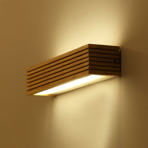 Image of Statuto - Modern Nordic Wooden Wall Lamp