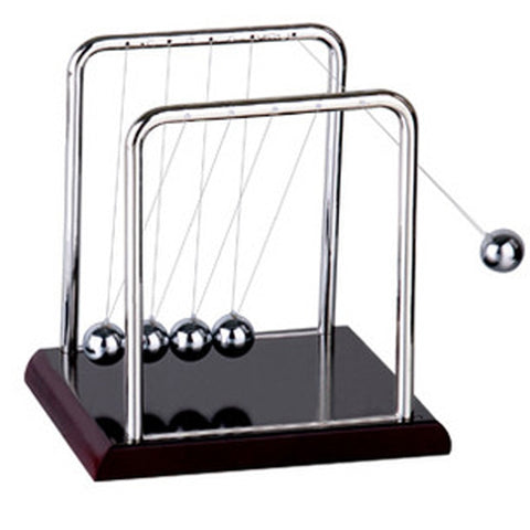 Image of Early Fun Development Educational Desk Toy Gift Newtons Cradle Steel Balance Ball Physics Science Pendulum