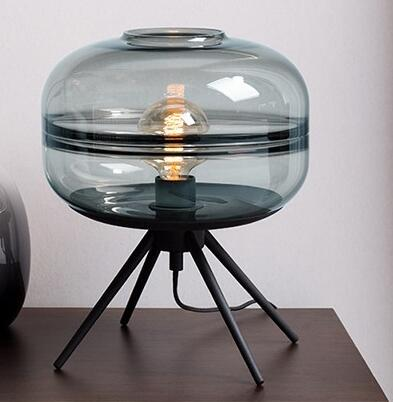Image of Wavelet Blown Glass Table Lamp