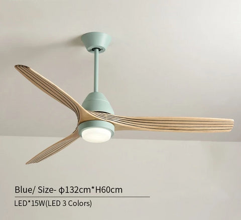 Image of Modern Nordic Ceiling Fan with LED Light