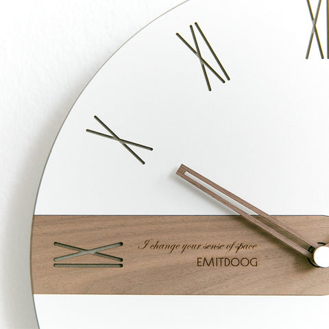 Image of Wall Clock Modern Design Single Face Needle