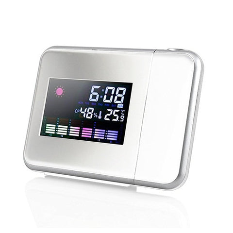 Digital LCD Projection LED Display Alarm Clock Weather Temperature Thermometer Humidity