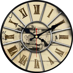 Vintage Wall Clock Roman Number Design Silent No Ticking Sound