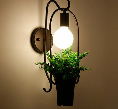 Image of Brielle - Modern Nordic Planter Wall Lamp
