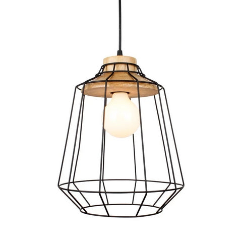 Image of Modern Nordic Wrought Iron Hanging Cage Lamp