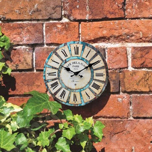 Vintage Round Wall Clock Retro Home Decoration