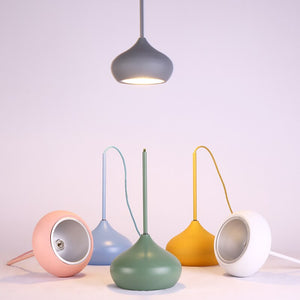 Colorful Dome Shaped Lampshade LED Pendant Lights