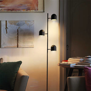 Adjustable 3-Bulb Slim Iron Floor Lamp