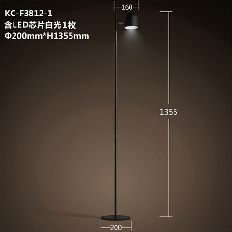 Image of Adjustable 3-Bulb Slim Iron Floor Lamp