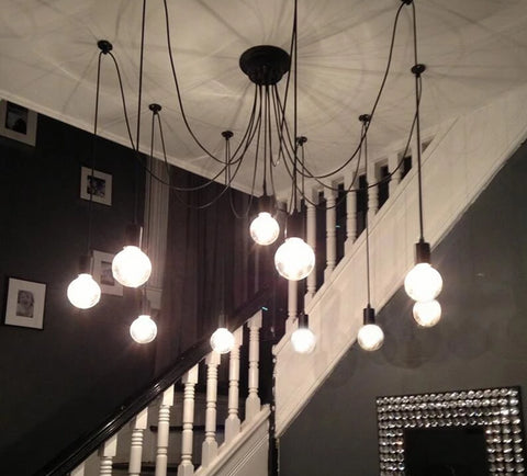 Image of Modern Nordic Art Spider Chandelier
