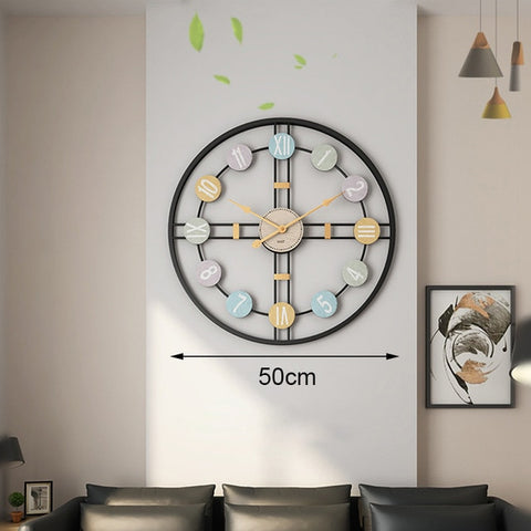 Image of Creative Silent Wall Clock 3D Retro Rustic DIY Wooden Handmade Oversized Wall Clock