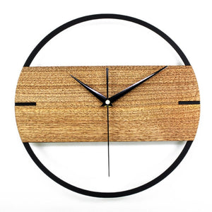 Creative Silent Wall Clock 3D Retro Rustic DIY Wooden Handmade Oversized Wall Clock