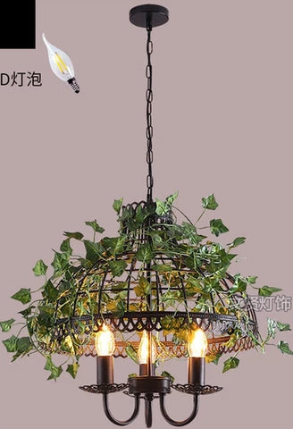 Image of Emory - Vintage Industrial Bird Cage Hanging Lamp