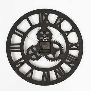 Wooden Vintage Wall clock with Retro Gear Handmade Retro Rustic Antique