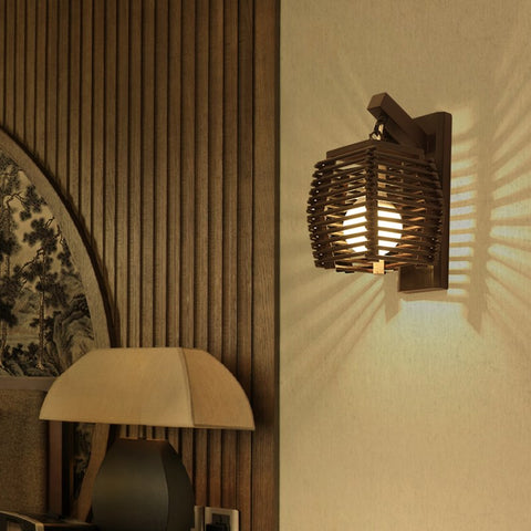 Image of Cassia - Wooden Lantern Lamp