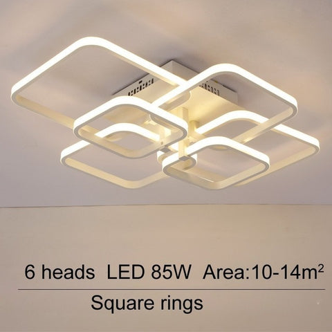 Image of Layered Square Modern LED Chandelier