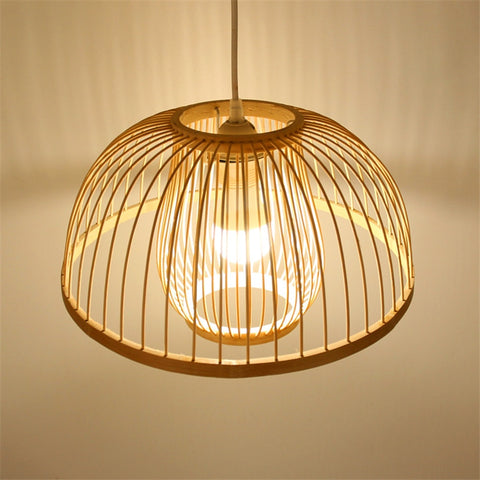 Image of Calico - Bamboo Pendant Hanging Light