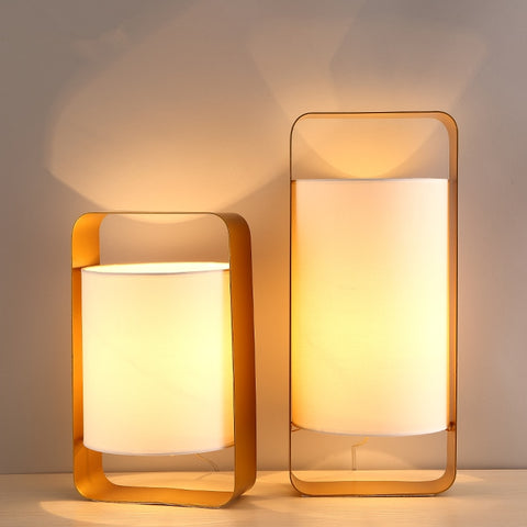 Image of Nate - Modern Frame Floating Lantern Desk Lamp