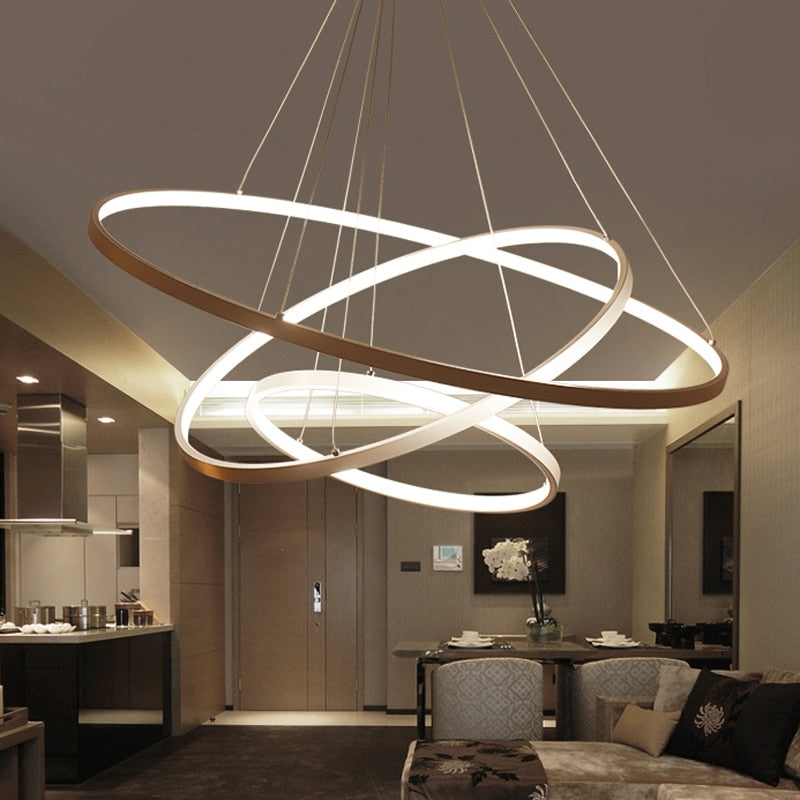 Indoor Modern Circular Ring Chandelier – Decoramo.co.uk