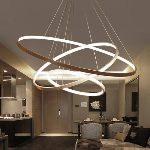 Image of Indoor Modern Circular Ring Chandelier