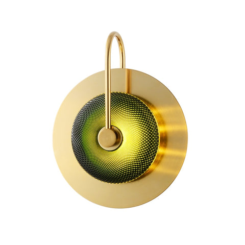 Image of Wattle - Circular Modern Art Deco Wall Lamp
