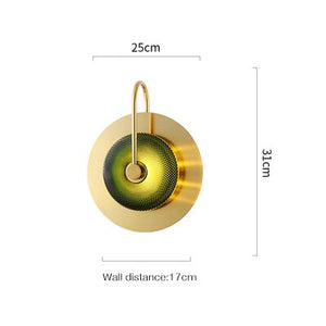 Wattle - Circular Modern Art Deco Wall Lamp