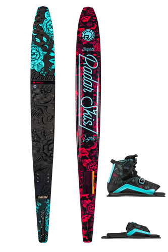 Radar | Graphite Lyric Waterski with Lyric BOA & BOA ARTP Waterski Bindings | 2020
