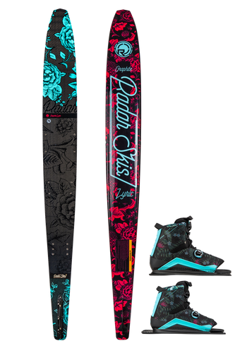 Radar | Graphite Lyric Waterski with Double Lyric BOA Waterski Bindings | 2020