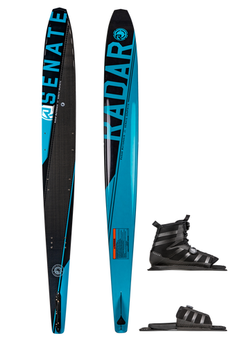 Radar | Graphite Senate Waterski with Vector BOA Binding & BOA ARTP | 2020