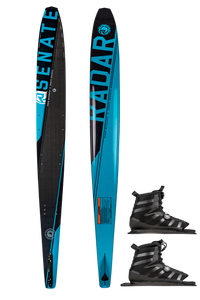 Radar | Graphite Senate Waterski with Double Vector BOA Bindings | 2020