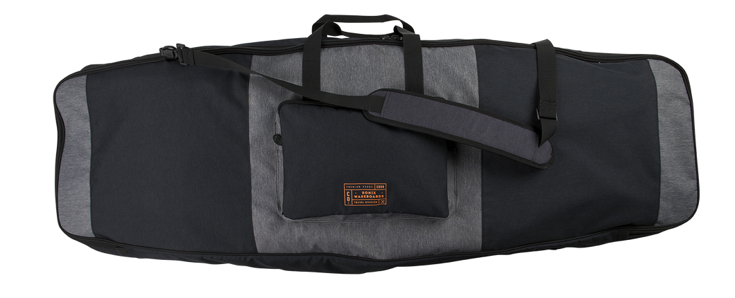Squadron Half Padded Board Case | Heather Charcoal - Orange
