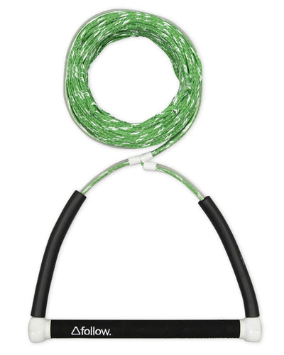 FOLLOW | The Basic Wakeboard Rope and Handle Package - Green