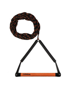 FOLLOW | The Basic Wakeboard Rope and Handle Package - Black / Orange
