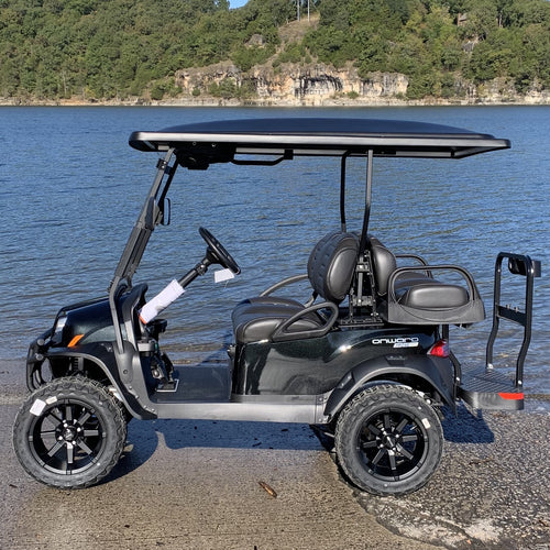 CLUB CAR | Metallic Tuxedo Black w/ Premium Black Seats | Onward 4 Passenger | Lifted | High Performance Lithium Ion | 2020