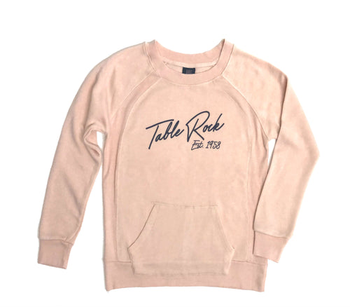 Ski & Sports | Ladies Angel Fleece Crew Sweatshirt | Cameo Pink